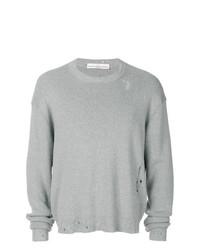 grauer Pullover mit einem Rundhalsausschnitt von Golden Goose Deluxe Brand