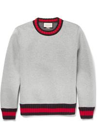 grauer Pullover mit einem Rundhalsausschnitt von Gucci