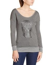 grauer Pullover mit einem Rundhalsausschnitt von Hurley