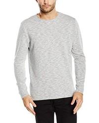 grauer Pullover mit einem Rundhalsausschnitt von JACK & JONES PREMIUM