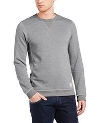 grauer Pullover mit einem Rundhalsausschnitt von JACK & JONES VINTAGE