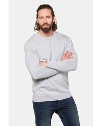 grauer Pullover mit einem Rundhalsausschnitt von JP1880