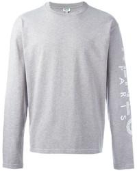grauer Pullover mit einem Rundhalsausschnitt von Kenzo