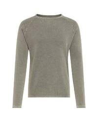 grauer Pullover mit einem Rundhalsausschnitt von Key Largo