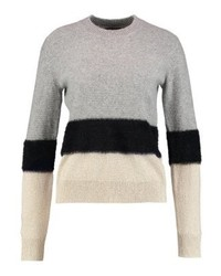 grauer Pullover mit einem Rundhalsausschnitt von KIOMI