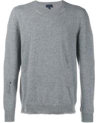 grauer Pullover mit einem Rundhalsausschnitt von Lanvin
