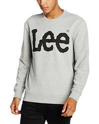grauer Pullover mit einem Rundhalsausschnitt von Lee