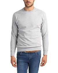 grauer Pullover mit einem Rundhalsausschnitt von Lower East