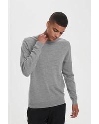 grauer Pullover mit einem Rundhalsausschnitt von Matinique