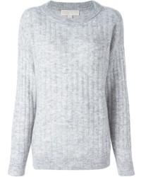 grauer Pullover mit einem Rundhalsausschnitt von MICHAEL Michael Kors