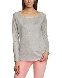 grauer Pullover mit einem Rundhalsausschnitt von Only