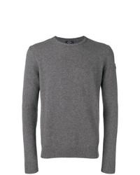 grauer Pullover mit einem Rundhalsausschnitt von Paul & Shark