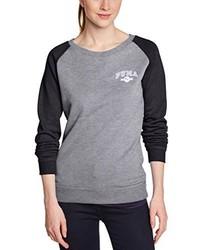 grauer Pullover mit einem Rundhalsausschnitt von Puma