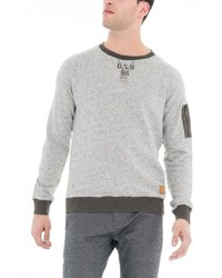 grauer Pullover mit einem Rundhalsausschnitt von SALSA