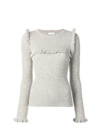 grauer Pullover mit einem Rundhalsausschnitt von See by Chloe