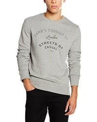grauer Pullover mit einem Rundhalsausschnitt von Selected Homme