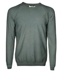 grauer Pullover mit einem Rundhalsausschnitt von Signum