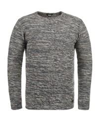 grauer Pullover mit einem Rundhalsausschnitt von Solid