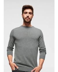 grauer Pullover mit einem Rundhalsausschnitt von Strellson