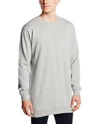 grauer Pullover mit einem Rundhalsausschnitt von Urban Classics