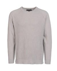 grauer Pullover mit einem Rundhalsausschnitt von Via Cortesa