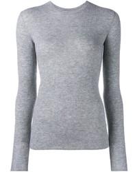grauer Pullover mit einem Rundhalsausschnitt von Vince