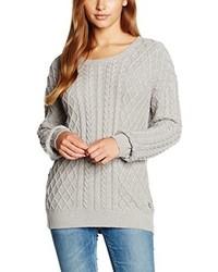 grauer Pullover mit einem Rundhalsausschnitt von Wrangler