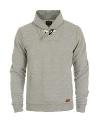 grauer Pullover mit einem Schalkragen von BLEND