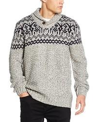 grauer Pullover mit einem Schalkragen von Joe Browns
