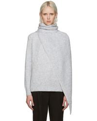 grauer Pullover mit einem Schalkragen von Kenzo