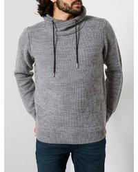 grauer Pullover mit einem Schalkragen von Petrol Industries