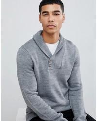 grauer Pullover mit einem Schalkragen von Pier One