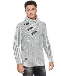 grauer Pullover mit einem Schalkragen von Redbridge