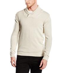 grauer Pullover mit einem Schalkragen von Selected Homme
