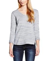 grauer Pullover mit einem V-Ausschnitt von edc by Esprit