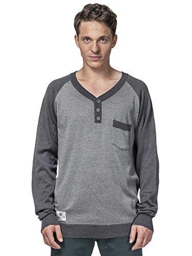 grauer Pullover mit einem V-Ausschnitt von Horsefeathers