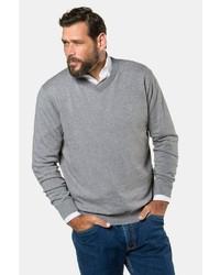 grauer Pullover mit einem V-Ausschnitt von JP1880