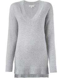 grauer Pullover mit einem V-Ausschnitt von MICHAEL Michael Kors