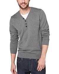 grauer Pullover mit einem V-Ausschnitt von Q/S designed by