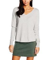grauer Pullover mit einem V-Ausschnitt von Vero Moda