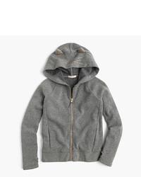 grauer Pullover mit einer Kapuze