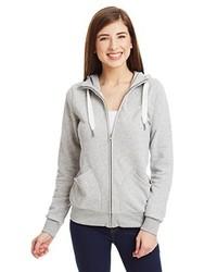 grauer Pullover mit einer Kapuze von adidas