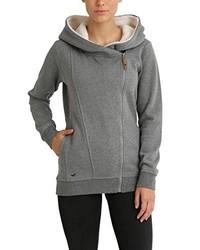 grauer Pullover mit einer Kapuze von Berydale