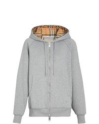 grauer Pullover mit einer Kapuze von Burberry
