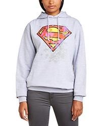 grauer Pullover mit einer Kapuze von DC Universe