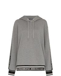 grauer Pullover mit einer Kapuze von Dolce & Gabbana