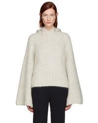 grauer Pullover mit einer Kapuze von See by Chloe