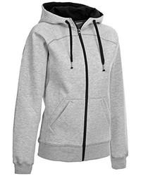 grauer Pullover mit einer Kapuze von Select