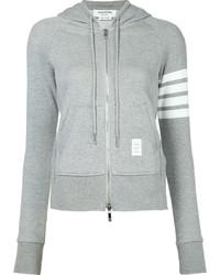 grauer Pullover mit einer Kapuze von Thom Browne