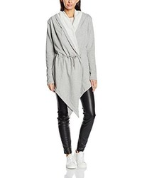 grauer Pullover mit einer Kapuze von Urban Classics